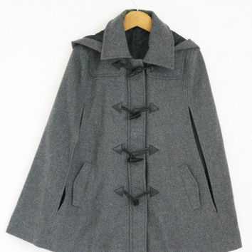 Hooded Grey Cape