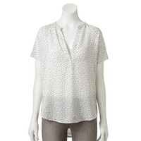LC Lauren Conrad Mixed-Media Top - Women's