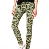 Olivia Low-Rise Jeggings in Camo