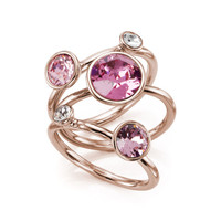 Jewel clustered ring - Pink | Jewellery | Ted Baker ROW