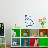 Wall Vinyl Decal Cartoon Cat Nursery Room Art Decor Removable Stylish Sticker Mural Unique Design for Any Room 227