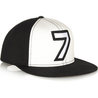 Karl Lagerfeld | Number 7 cotton baseball cap | NET-A-PORTER.COM
