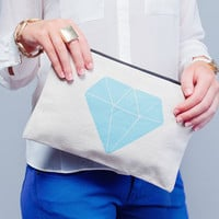 Gem Canvas Pouch
