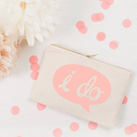 'I Do' Canvas Pouch