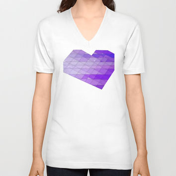 Ode to Purple V-neck T-shirt by DuckyB (Brandi)