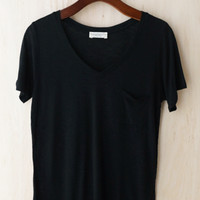 Perfectly Imperfect One-Pocket Shabby Tee, Black #2