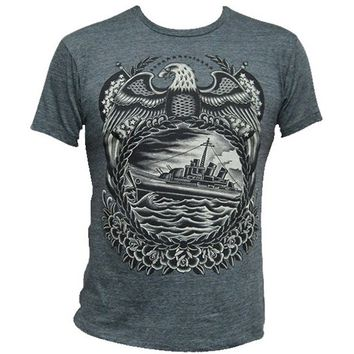 "Men's ""Battleship"" Tee by Black Market Art (Charcoal)"