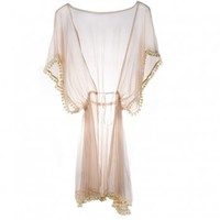 Ell &amp; Cee Pom Pom Robe - Robes from Glamorous Amorous UK