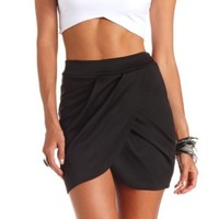 PLEATED TULIP MINI SKIRT