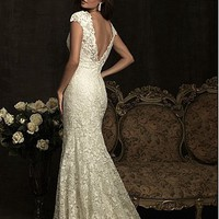 Buy discount Elegant Exquisite Lace Mermaid V-neck Wedding Dress at dressilyme.com