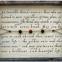 INVISIBLE THREAD WALL ART | Rebecca Puig, Chinese Proverb, Home Decor | UncommonGoods