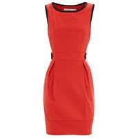 Bqueen Colourblock Shift Dress Red K005R - Designer Shoes|Bqueenshoes.com