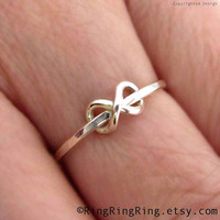 Adjustable Tiny infinity ring