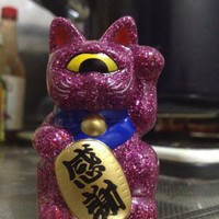 Real x Head Fortune Cat Baby - pink glitter