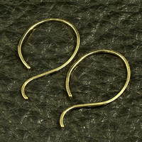 Small Gold Hoop Earrings / Little Gold Hoops / by MetalRocks