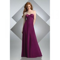 A-line Strapless Floor-length Satin Bridesmaid/ Evening Party Dress [TWL120201032] - $93.99 : wedding fashion, wedding dress, bridal dresses, wedding shoes