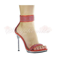 Hot Sale Platform Special Satin High Heels Sandals [TQL120323021] - £68.59 :