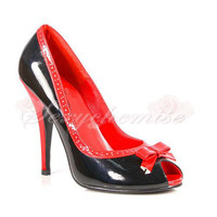 Sexy Patent Leather Peep Toe High Heels Sandals [TQL120323034] - £46.59 :