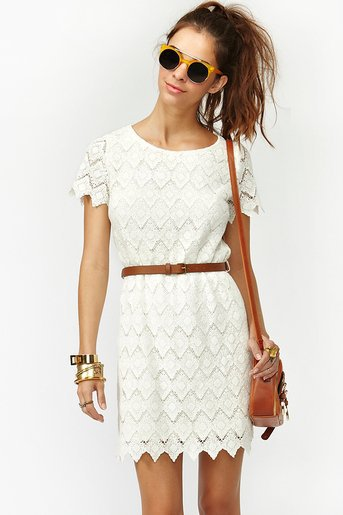 Belted Crochet Dress in  Clothes Dresses Party at Nasty Gal
