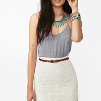 Jillian Crochet Skirt - Ivory in  Sale Bottoms at Nasty Gal