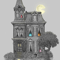 Haunted by the 80's Art Print by Terry Fan