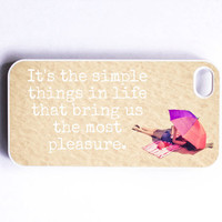 Iphone Case Simple Things Quote Words by SSCphotographycases