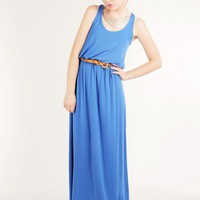 CASUAL SEXY VISCOSE KNIT TANK MAXI DRESS WITH ELASTIC WAIST-Maxi-maxi dresses, long dresses, ankle length dresses, floor length dresses, printed dresses, halter dresses,chiffon maxi dress,print maxi dress