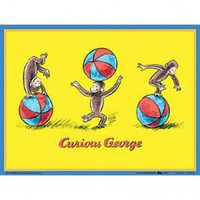 Art 4 Kids Curious George Wall Art - 41004 - All Wall Art - Wall Art & Coverings - Decor