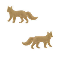 Flat fox stud earring - Jewellery - Accessories - Dorothy Perkins