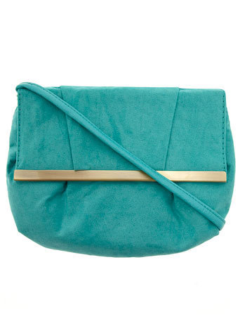 Aqua suedette crossbody bag - Handbags & Purses - Accessories - Dorothy Perkins