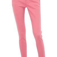 Coral zip detail superskinny - New In Clothing - What's New - Dorothy Perkins