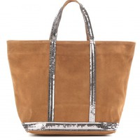 Cabas Medium suede shopper