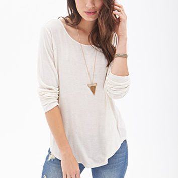 Slub Knit Cutout Back Top