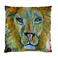 Lion Cushion Case Cobin by HeavenlyCreaturesArt on Etsy