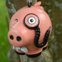 Sir Hamington Dapper Pig Ornament by CreativeFiasco on Etsy
