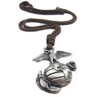 soft leather long necklacemetal globe pendant men by braceletcool