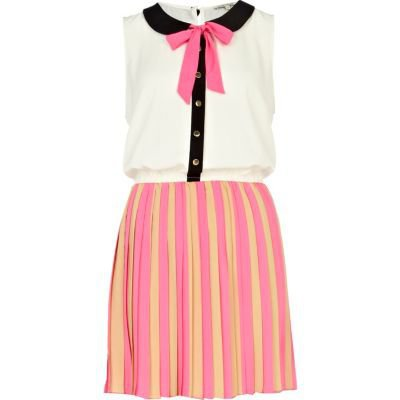 pink stripe sailor dress - day dresses - dresses - women - River Island