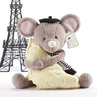 Monsieur leSqueak - Plush Mouse and Blanket Gift Set