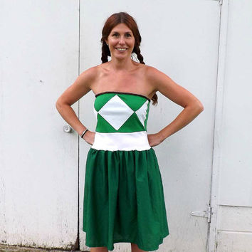 Mighty Morphin Power Ranger inspired costume Cosplay party Dress Any Color