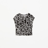 PRINTED CROP T-SHIRT