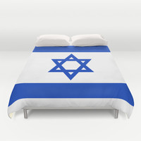 The National flag of the State of Israel Duvet Cover by LonestarDesigns2020 - Flags Designs +