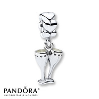 Pandora Dangle Charm Cheers Toast Sterling Silver