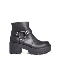 River Island Cleated Ring Detail Ankle Boots