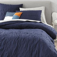 Crinkle Duvet Cover + Shams - Nightshade