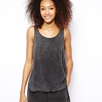 Monki Acid Wash Vest