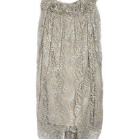 Marchesa Embellished lace and silk dress - 55% Off Now at THE OUTNET