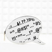 Deena & Ozzy Speech Bubble Pouch in White - Urban Outfitters