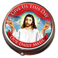 Jesus Pillbox: Give Us This Day Our Daily Meds - Whimsical  Unique Gift Ideas for the Coolest Gift Givers