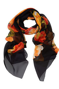 Salvatore Ferragamo Printed silk-chiffon scarf - 50% Off Now at THE OUTNET