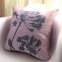 Limited Time Sale Pastel Lavender Cardinal on Agapanthus by joom